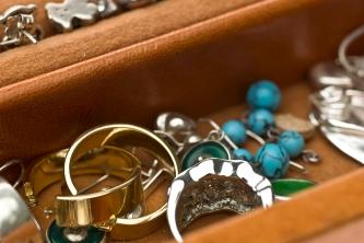 Jewelry box close up
