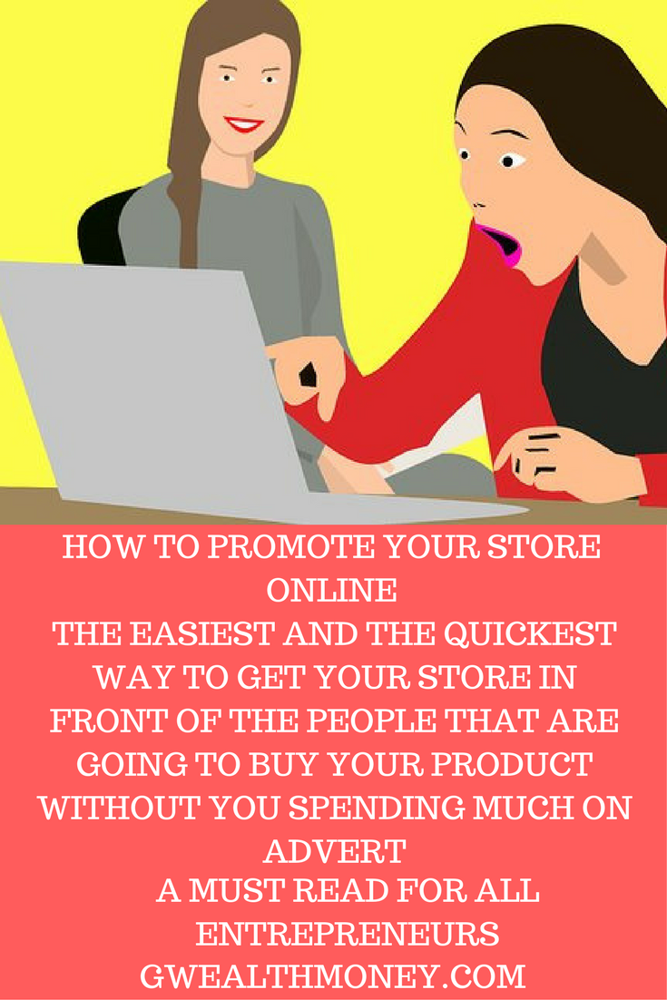 HOW TO PROMOTE YOUR STORE ONLINE