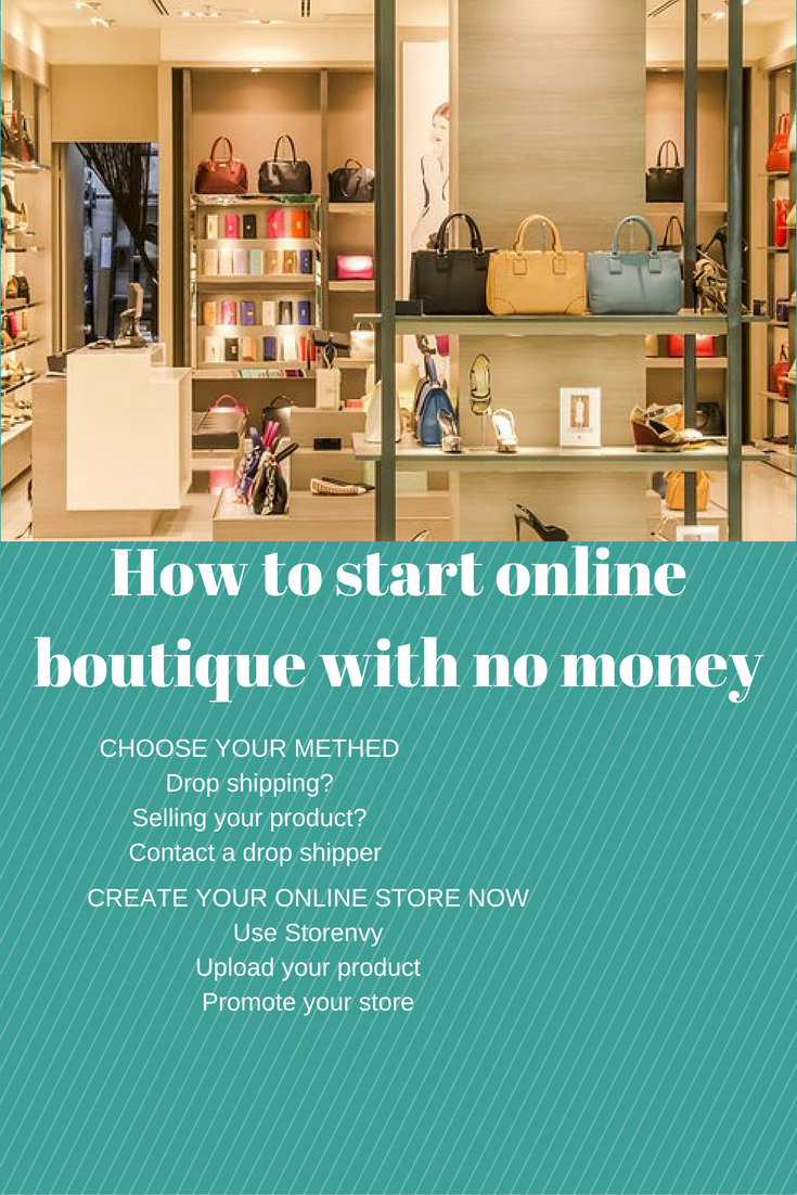 How to start online boutique with no money